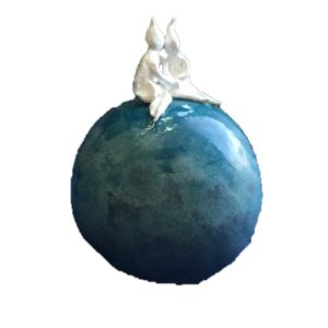 Elfies on blue ball - uni