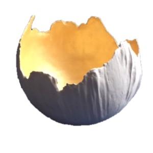bolvaas-schaal wit met goud